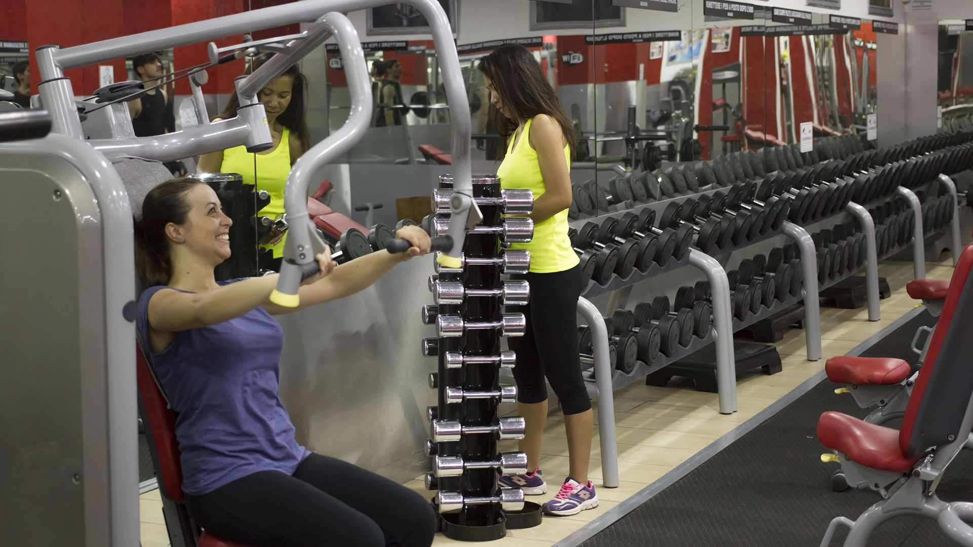 Allenamento e Pesi Palestra Time Fitness Roma Quadraro